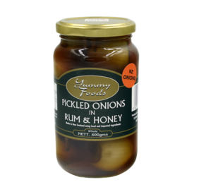 Pickled Onions in Rum & Honey - Whole 400g